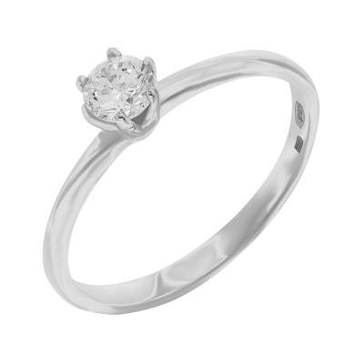 Кольцо серебряное с фианитом (10247)
