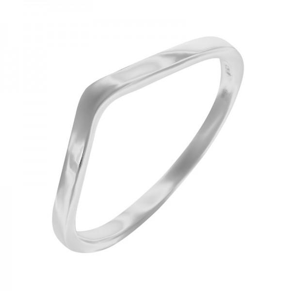 Каблучка срібна без каменів (10367)