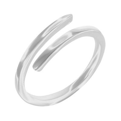 Каблучка срібна без каменів (10380)