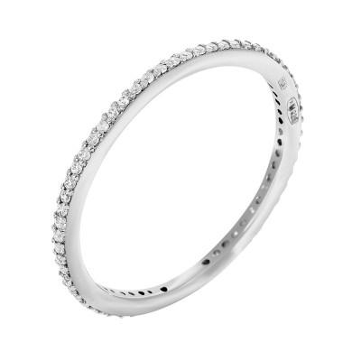 Каблучка срібна доріжка з фіанітами (10428)