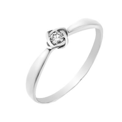 Каблучка срібна з діамантом (1643/1R-BR)