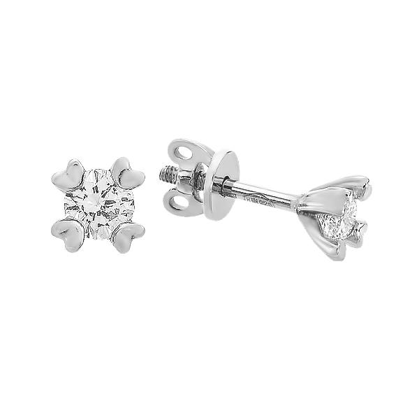 Сережки-пусети срібні з фіанітами (20218)