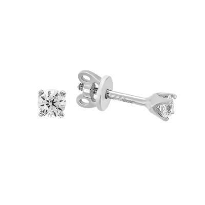 Сережки-пусети (гвоздики) срібні з фіанітами (20382)