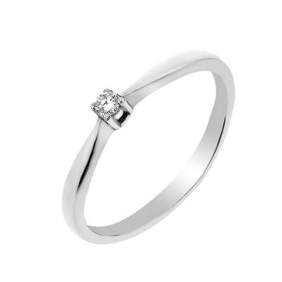Каблучка срібна з діамантом (2206/1R-BR)