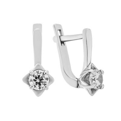 Сережки срібні з фіанітами (2249/1р-CZ)