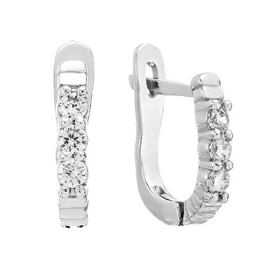 Сережки срібні доріжка з фіанітами (2265/1р-CZ)