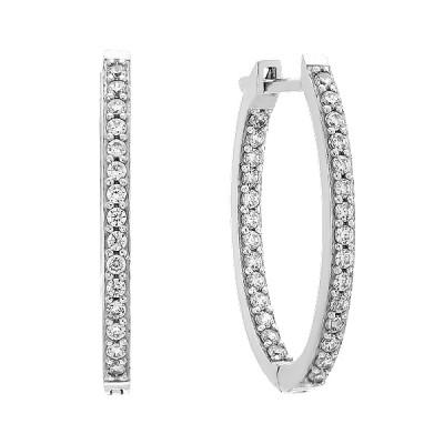Сережки срібні доріжка з фіанітами (2267/1р-CZ)