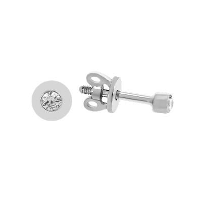 Сережки-пусети (гвоздики) срібні з фіанітами (2378)