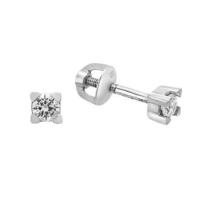 Сережки-пусети срібні з фіанітами (2621/9р-CZ)