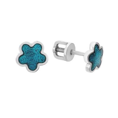 Сережки-пусети (гвоздики) срібні фантазія без каменів (262609)