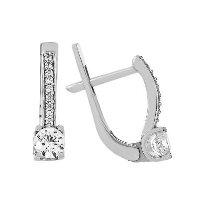 Сережки срібні з фіанітами (2657/9р-CZ)