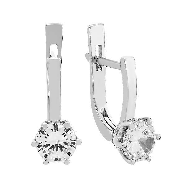 Сережки срібні з фіанітами (2698/9р-CZ)