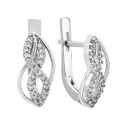 Сережки срібні фантазія з розсипом (2748/9р-CZ)