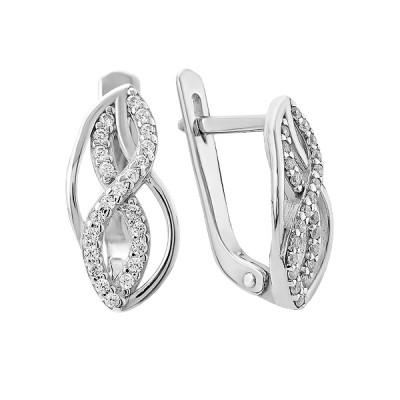 Сережки срібні фантазія з розсипом (2748)