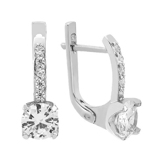 Сережки срібні з фіанітами (2778/2)