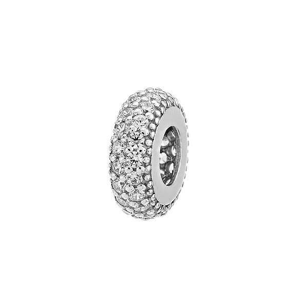 Шарм намистина срібна з фіанітами (30021)