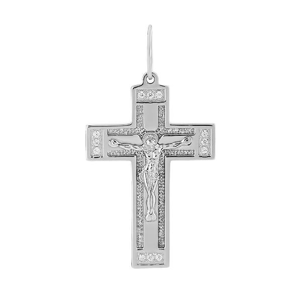 Хрестик срібний Розп'яття Христове (3490-Р)