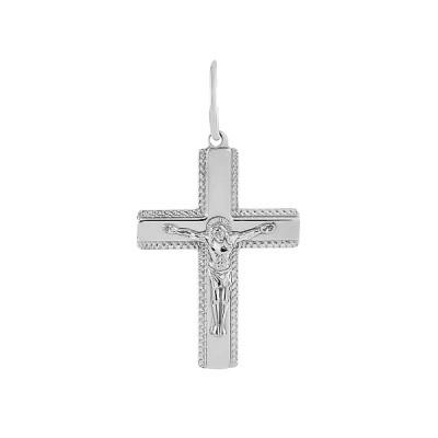 Хрестик срібний Розп'яття Христове (3502-АР)