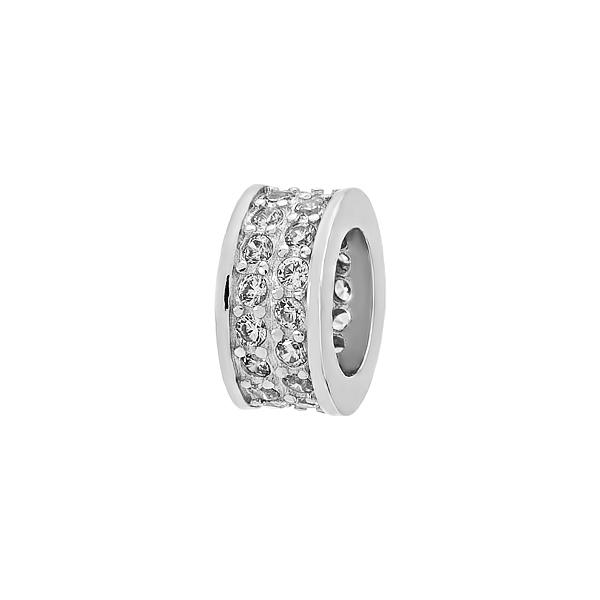 Шарм намистина срібна з фіанітами (3893)