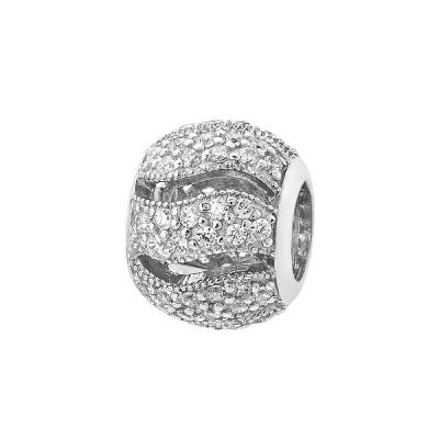 Шарм намистина срібна з фіанітами (39002)