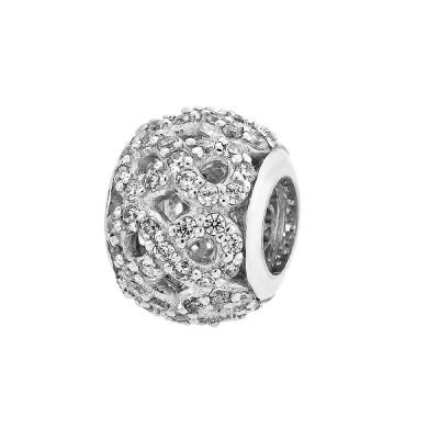 Шарм намистина срібна з фіанітами (39005)