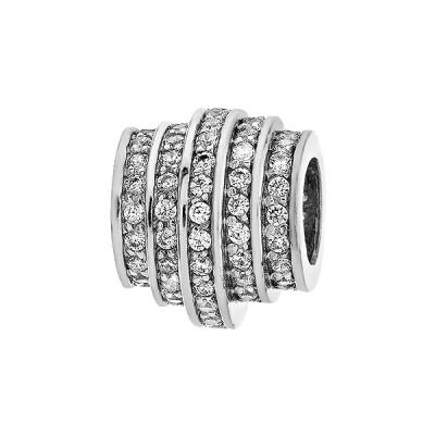 Шарм намистина срібна з фіанітами (39080)