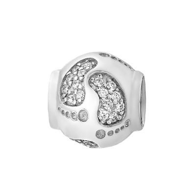 Шарм намистина срібна з фіанітами (39098)