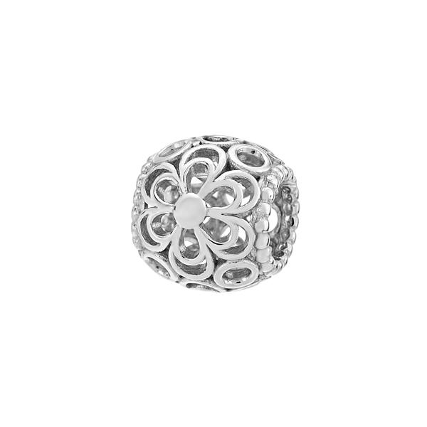 Шарм намистина срібна без каменів (3910)
