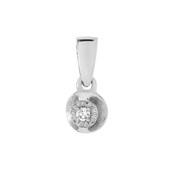 Підвіска срібна з діамантом (3917р-BR)