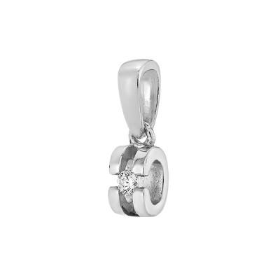 Підвіска срібна з діамантом (3923р-BR)