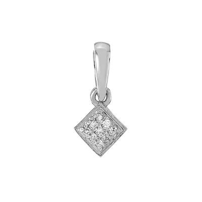 Підвіска срібна геометрія з діамантами (3928р-BR)