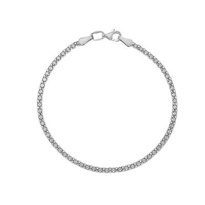 Браслет срібний подвійний Якір (39505)