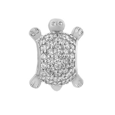 Шарм намистина срібна Черепаха з фіанітами (3995)