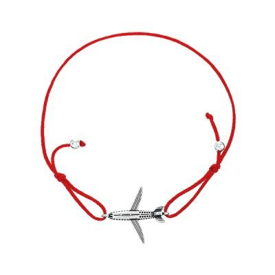 Браслет на нитці шамбола Літак (4141*-к)
