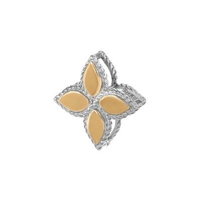 Підвіска срібна фантазія без каменів та золотими вставками (500426-КЗНР)