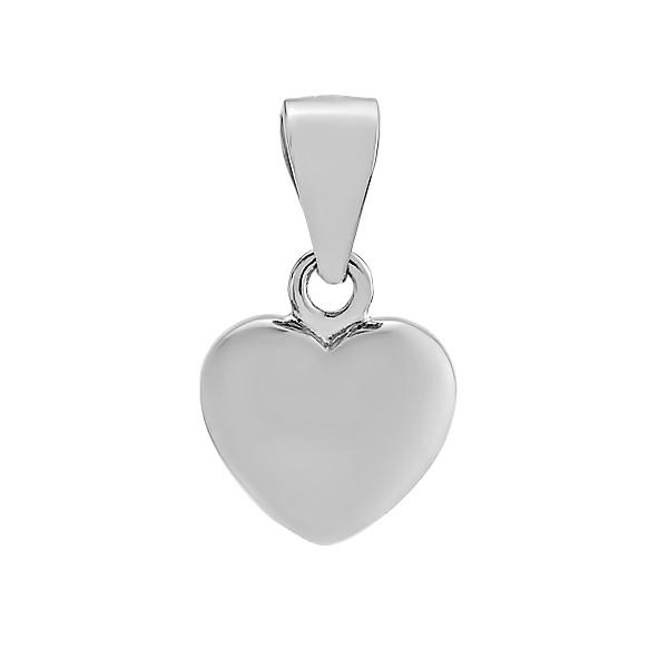 Підвіска срібна Серце без каменів (540002)