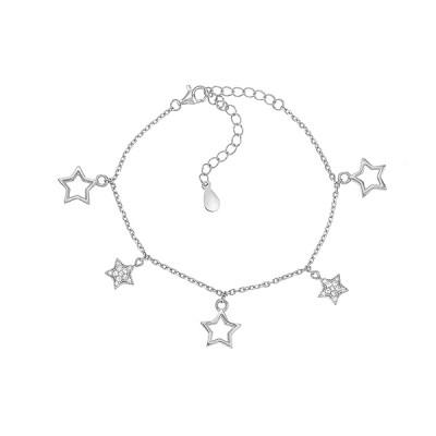 Браслет срібний Зірка з фіанітами (550015б)