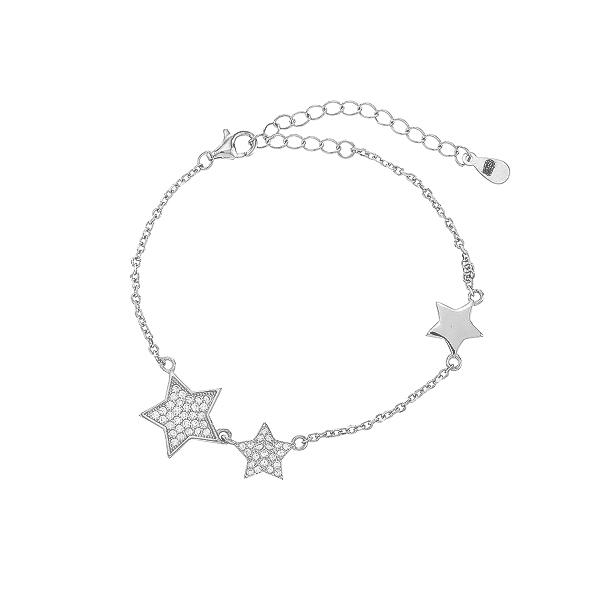 Браслет срібний Зірка с фіанітами (550018б)