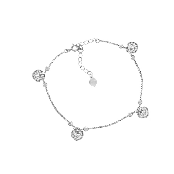 Браслет срібний фантазія з фіанітами (550067б)