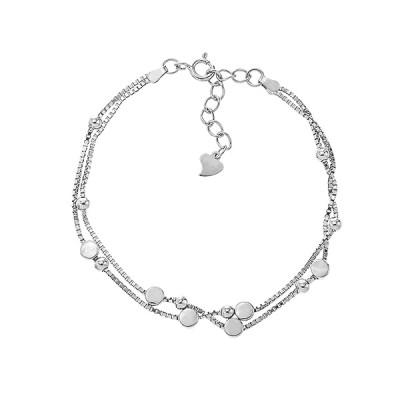 Браслет срібний фантазія без каменів (550200)