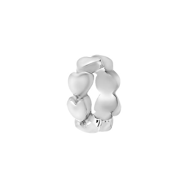 Шарм намистина срібна Серце (610П.Rh)
