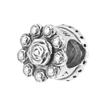 Шарм намистина срібна фантазія з фіанітами (614П)