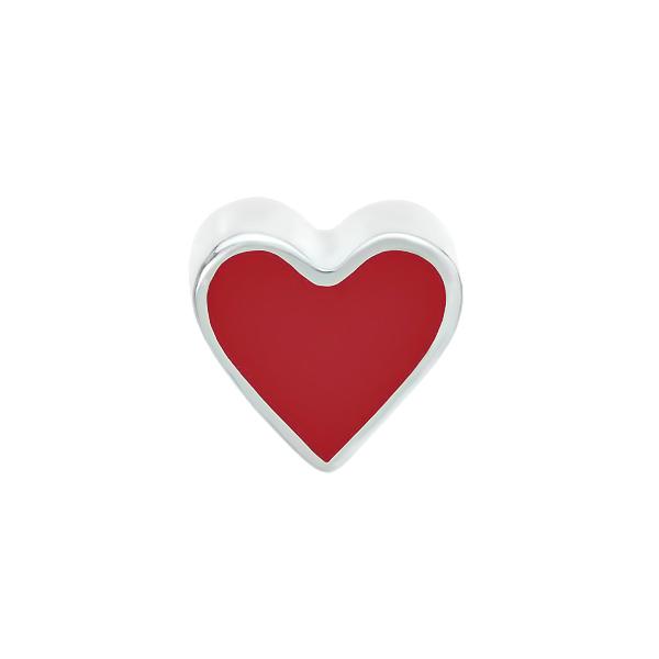 Шарм намистина срібна Серце без каменів (794П.Rh)