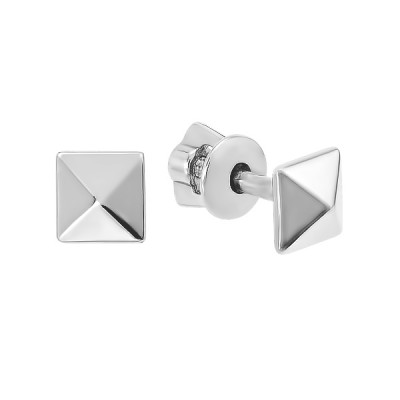 Сережки-пусети срібні геометрія без каменів (82709)