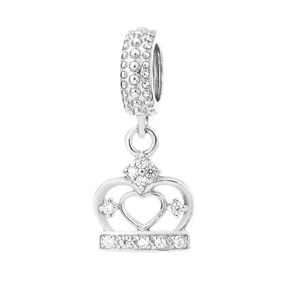 Шарм намистина срібна Корона з фіанітами (84500б)