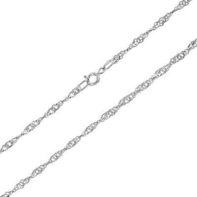 Ланцюжок срібний Сінгапур (90127204051р)