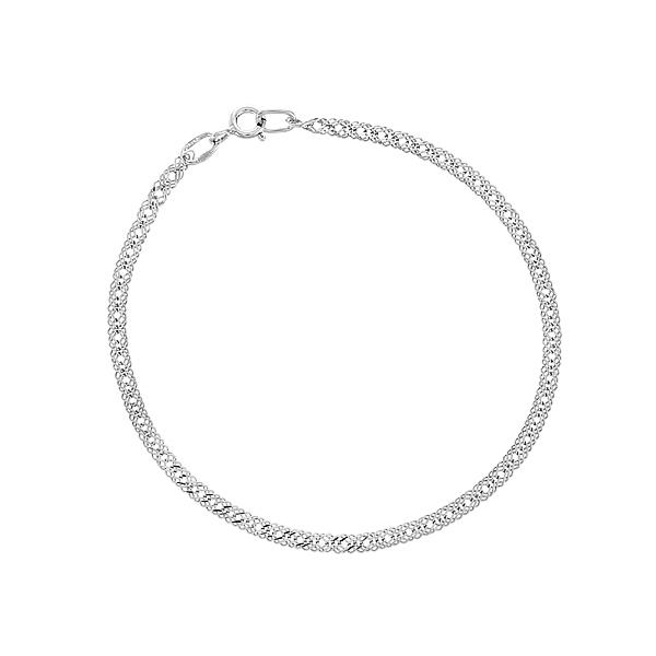 Браслет срібний потрійний Ромб (90233303041р)