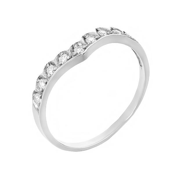 Каблучка срібна фантазія з розсипом (910039б)