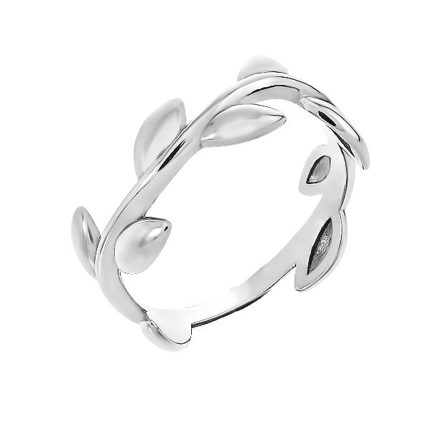 Каблучка срібна без каменів (910056)