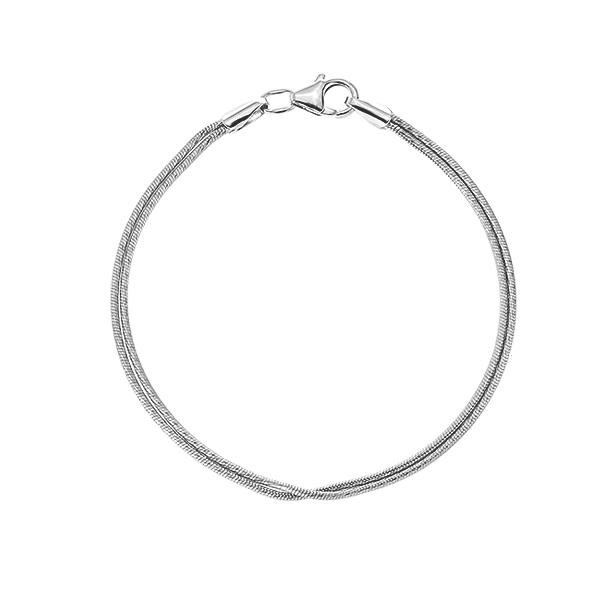 Браслет срібний подвійний Снейк (92231104034р)
